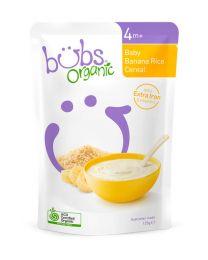 Bubs  有机婴儿辅食 香蕉谷物粥米糊(4个月+)125g