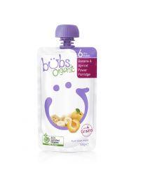 Bubs  有机婴儿辅食 香蕉+杏子麦片粥 6个月+ 120g