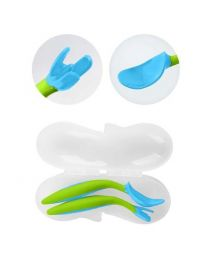 B.BOX宝宝便携式叉勺餐具套装 蓝绿色