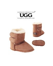 【包邮】BABY OZWEAR UGG OB008 栗色 新款保暖防滑羊皮毛一体魔术贴学步鞋雪地靴(S\M\L\XL) 下单前请联系客服备注尺码哦
