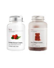 【包邮】Unichi胶原蛋白小熊软糖 送 Unichi玫瑰果精华胶囊