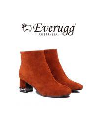 【包邮】EVER UGG 21875 焦糖色 Grace 防泼水珍珠后跟短靴(35码-40码)