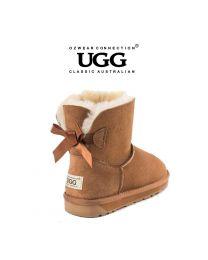 【清仓特惠】【包邮】OZWEAR UGG OB365 栗色 蝴蝶结经典低筒雪地靴(新旧款随机发 35码-40码) 下单前请联系客服备注尺码哦