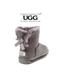 【清仓特惠】【包邮】OZWEAR UGG OB365 灰色 蝴蝶结经典低筒雪地靴(35码-40码) 下单前请联系客服备注尺码哦