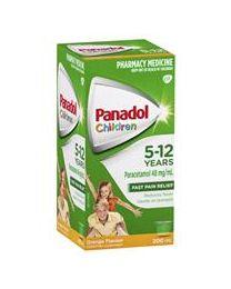Panadol 儿童感冒口服液 5-12岁适用 香橙口味 200ml