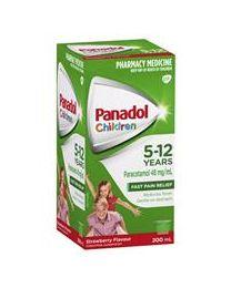 Panadol 儿童感冒口服液 5-12岁适用 草莓口味 200ml