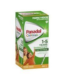 Panadol 1-5岁儿童退烧止痛滴剂 无色素 橙味 200ml