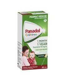 Panadol 婴儿感冒退烧止痛滴剂 1个月-2岁 20ml