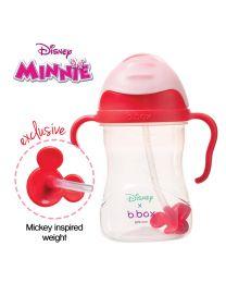 B.BOX 限量迪士尼系列-米妮款 婴幼儿重力球吸管杯 防漏 240ml 红粉色