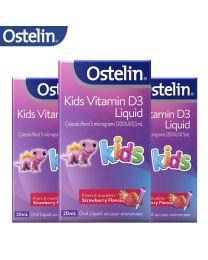 【包邮】【三件装】Ostelin Kids Vitamin D Liquid 儿童维生素D滴剂 20ml
