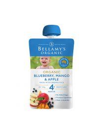 Bellamy's 贝拉米婴儿有机辅食 芒果蓝莓苹果泥粥120g