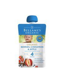 Bellamy's贝拉米婴儿有机辅食 浆果肉桂苹果泥粥120g