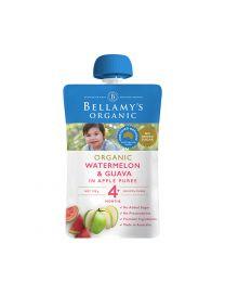 Bellamy 贝拉米 有机 西瓜番石榴果泥 婴儿辅食 4+ 120g
