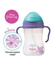 B.BOX 限量迪士尼系列-美人鱼款 婴幼儿重力球吸管杯 防漏 240ml 紫蓝色
