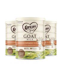 【包邮】【三件装】Karicare 可瑞康金装1段1阶婴儿羊奶粉 900g