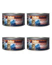 【国内仓】【包邮】K9 Feline Natural - Lamb & King Salmon Feast  天然无谷猫罐头-羊肉&帝王鲑85g*4