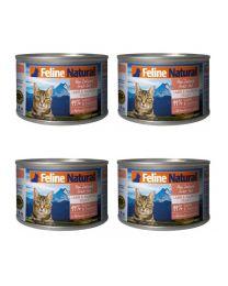 【国内仓】【包邮】K9 Feline Natural - Lamb & King Salmon Feast  天然无谷猫罐头-羊肉&帝王鲑170g*4
