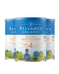 【包邮】【三件装】Bellamy's 贝拉米有机奶粉900g 4段