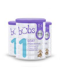 【包邮】【三件装】Bubs 婴幼儿配方羊奶奶粉1段0-6个月