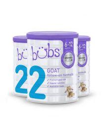 【包邮】【三件装】Bubs 婴幼儿配方羊奶奶粉2段6-12个月
