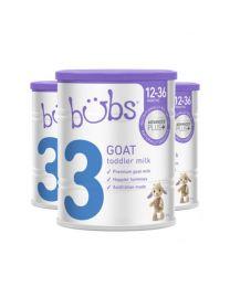 【包邮】【三件装】Bubs 婴幼儿配方羊奶奶粉3段12-36个月