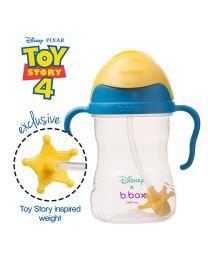 B.BOX 限量迪士尼系列-玩具总动员款 婴幼儿重力球吸管杯 防漏 240ml 蓝黄色