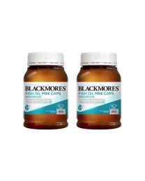 【两件装】【包邮】Blackmores无味深海鱼油 400粒 迷你胶囊 易吞咽