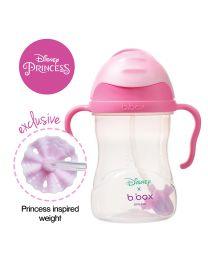 B.BOX 限量迪士尼系列-欧若拉公主款 婴幼儿重力球吸管杯 防漏 240ml 玫红粉色
