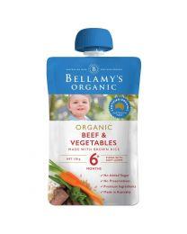 Bellamy 贝拉米 有机 牛肉蔬菜糙米米糊 婴儿辅食 6+ 120g