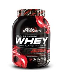 【包邮】Vital Strength乳清蛋白粉100% Whey Protein 低碳水化合物增肌 2公斤 香草味