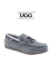 【包邮】OZWEAR UGG OB380 灰色 男士羊毛乐福鞋(39码-44码)下单前请联系客服备注尺码哦