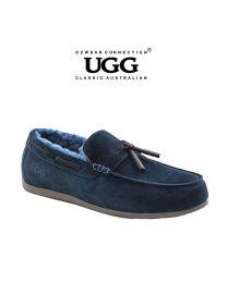 【包邮】OZWEAR UGG OB380 蓝色 男士羊毛乐福鞋(39码-44码)下单前请联系客服备注尺码哦