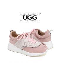 【包邮】OZWEAR UGG OB412 三色可选 春夏新款 牛皮拼色透气流苏慢跑鞋休闲鞋