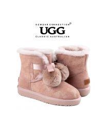 【清仓特惠】【包邮】OZWEAR UGG OB452 粉色 秋冬新款 史黛拉毛球雪地靴(35码-40码) 下单前请联系客服备注尺码哦