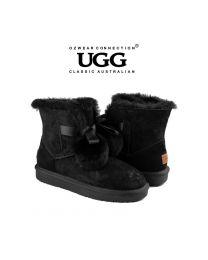 【清仓特惠】【包邮】OZWEAR UGG OB452 黑色 秋冬新款 史黛拉毛球雪地靴(35码-40码) 下单前请联系客服备注尺码哦