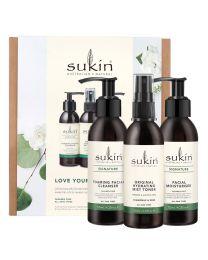 Sukin 苏芊护肤三件套 宠爱肌肤套装(洁面125ml+喷雾125ml+乳液面霜125ml)