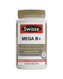 Swisse MEGA B+ 复合维生素B片60粒VB片 成人补充维生素b族营养 60片